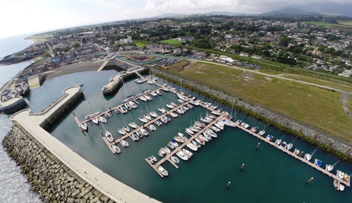 Aerial Photograph of Greystones Harbour Marina